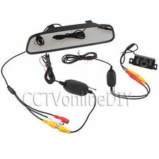 "4.3"" Car Mirror Monitor + Wireless Reverse Rear view Backup IR Camera System"