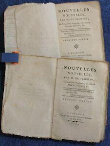 1793-Nouvelles-Nouvelles-par-M-de-Florian-Complet-en-2-tomes