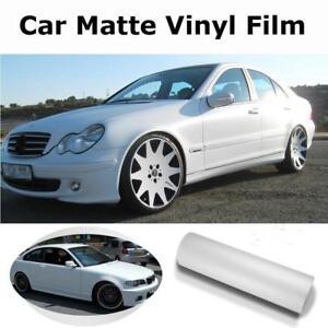 White-Matte-Car-Wrap-Film-Auto-External-Sticker-protection-Air-Bubble-Free