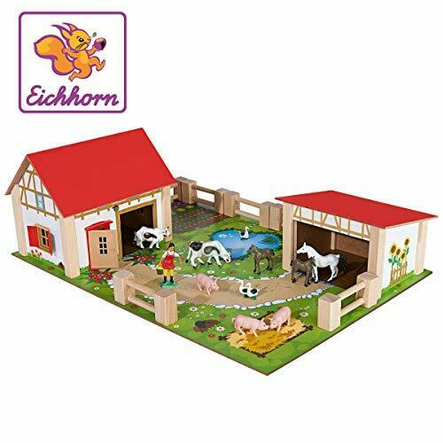 game board Eichhorn 100004308 figures Farm with 2 buildings animals,