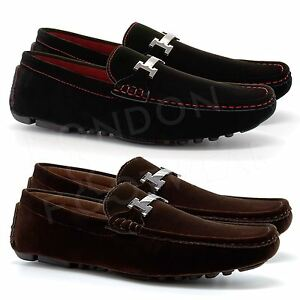 new mens casual loafers slip on driving shoes designer