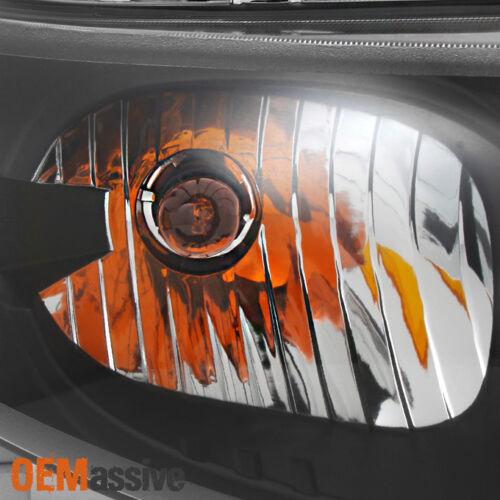 Fit 03-07 Saturn Ion 4 Doors Sedan Black Headlights Replacement L+R