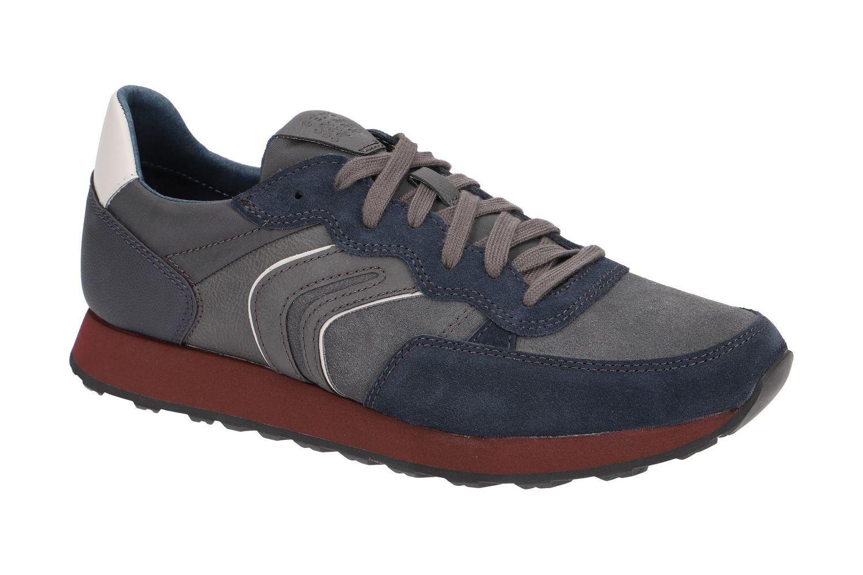Geox Herren Respira VINCIT B Herren Geox Schuhe Sneaker Halbschuhe U845VC Navy Anthrazit 6534aa