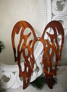 Edelrost-Engelsfluegel-Fluegel-Rost-34cm-Weihnachten-Advent-Deko-Metall
