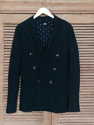NEW Dolce & Gabbana Classic Stretch Cotton Double-breasted Peacoat Blue Sz 48
