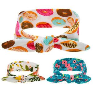 Baby Floral Headband Rabbit Hairbands Bow Knot Hair Band Kids Children Turban