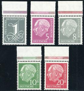 BUND-1960-MiNr-179-285-Y-II-Oberrand-tadellos-postfrisch-Mi-70