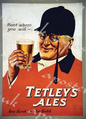 Vintage Tetley Ales Advertisement Poster A3//A4 Print