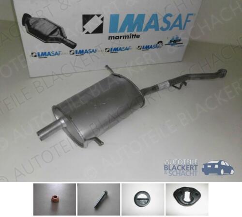 IMASAF ESD Auspuff Endtopf 3er für BMW E36 Compact 316 i//g+Anbauteile 1994-2000
