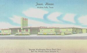 Vintage Postcard Town House Wichita Falls Tx Ebay