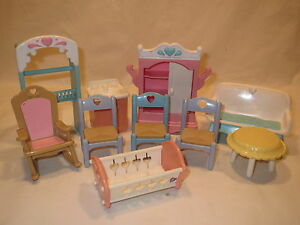 Fisher Price Loving Family Dollhouse furniture misc lot