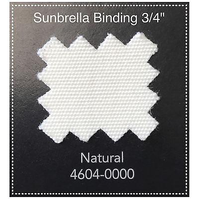 "Sunbrella Acrylic Binding 1/"" Sewing Edge Trim Full Roll  100 Yards Black"