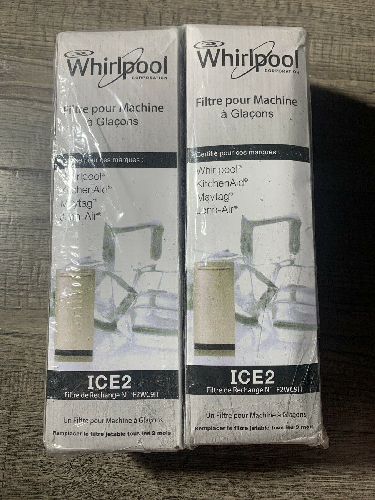 W10480323 ice2 f2wc9i1 Water Filter 2pack Glacial Pure ICE2 F2WC9I1 Ice Maker Water Filter Compatible with ice2 f2wc9i1 W10565350