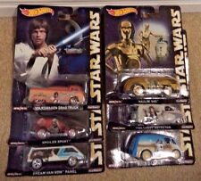 HOT WHEELS STAR WARS POP CULTURE COMPLETE SET OF 6 TRUCK VAN D-LIVERY SPOILER NU