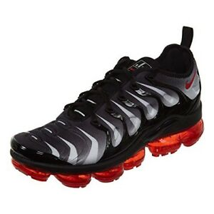 5b41a85631eb9 Nike Air Vapormax Plus Shark Black/Red AQ8632-001 Men Sizes 7-13 | eBay