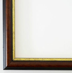 bilderrahmen braun gold antik barock rahmen holz foto urkunden modern berlin 2 3 ebay. Black Bedroom Furniture Sets. Home Design Ideas