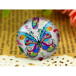 25 mm Handmade glass cabochonsJoli Papillon5pcs
