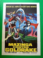 M06 MANIFESTO 2F MAZINGA CONTRO GOLDRAKE 1 EDIZIONE JAPAN HIDEKI TOSHIO MORI