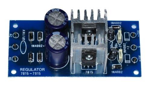Unassembled KIT +//-15VDC 1A DC Regulator Power Dual Supply input AC 12-18V