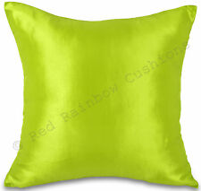 "Lime Green Taffeta/Faux Silk 18"" Cushion Cover Pillow Case BNIP"