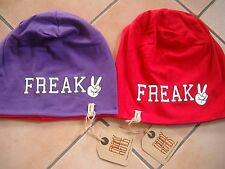 """(S) Leichte FREAKY HEADS Wende Mütze Jersey Beanie """"Freak"""" Druck und Logo Flag"""