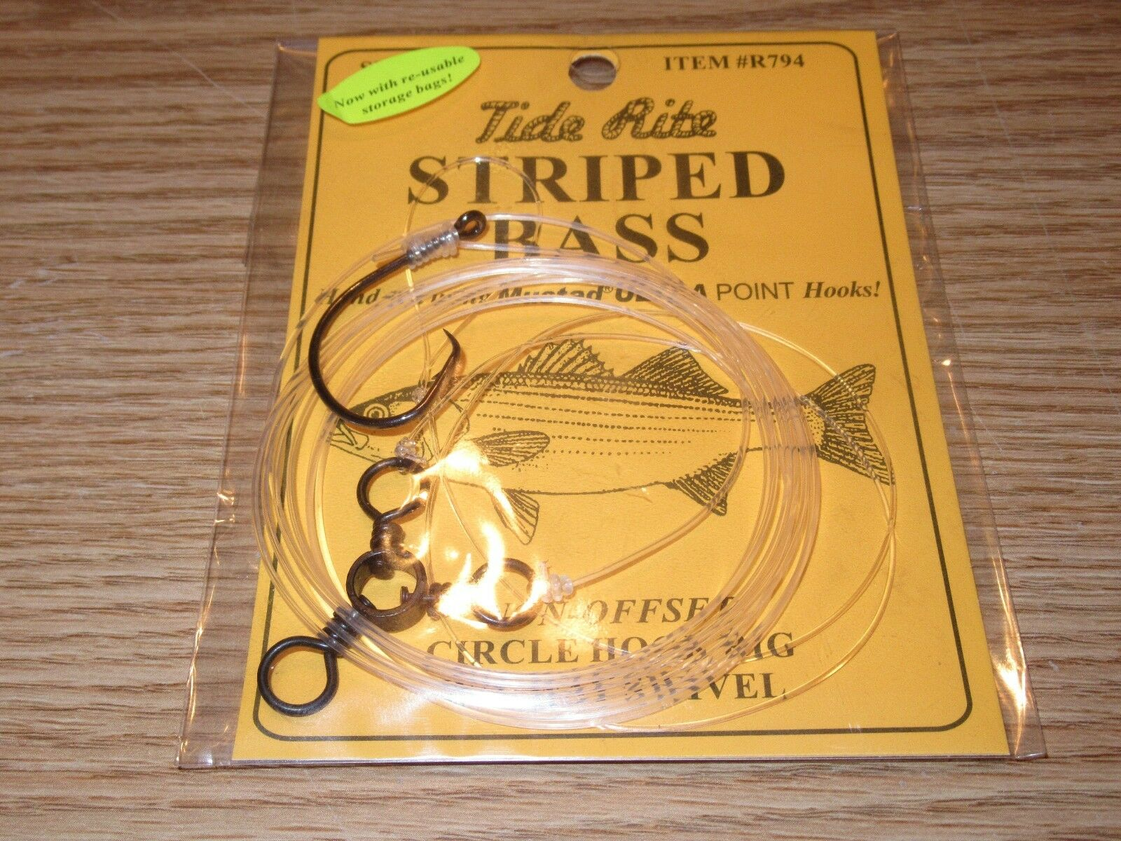 24 STRIPED BASS TIDE RITE R794 CIRCLE HOOK 3-WAY RIGS SALTWATER FISH RIG MUSTAD
