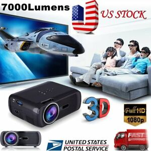 Portable-7000-Lumens-HD-1080P-3D-Multimedia-Projector-LED-Home-Theater-HDMI-USB