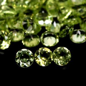 5.13 Carats NATURAL 90pcs 2.3mm PERIDOT Loose Pakistan for Jewelry Setting Round