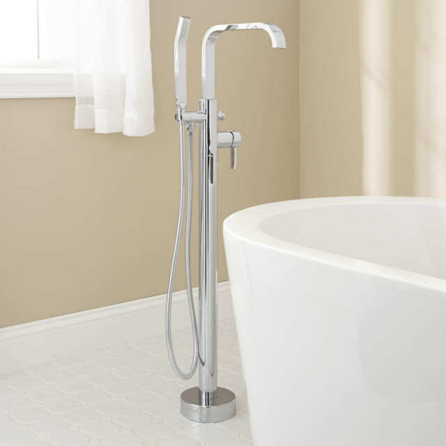 Signature Hardware Metis Freestanding Tub Faucet With Hand Shower Ebay