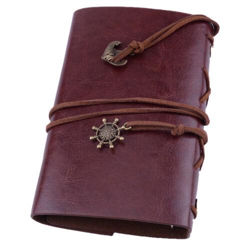 Uralt Stil Leder Notizbuch Heft Kladde Tagebuch Kalender Journal Reise Notizbuch