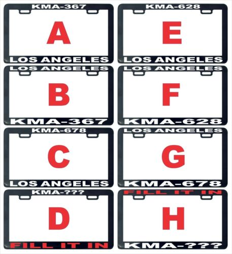 Police officer KMA personalized  assorted license plate frame tag holder
