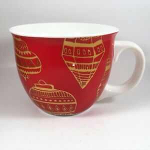 Starbucks Christmas Coffee Cups.Details About 2015 Starbucks Christmas Coffee Mug 14oz Holiday Edition Red Gold Ornaments Cup