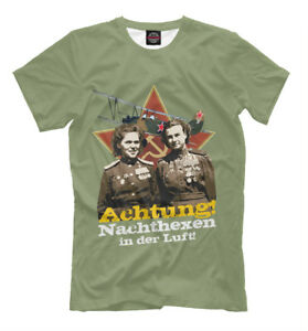 ACHTUNG-NOTTE-STREGHE-nel-cielo-NUOVO-T-Shirt-Esercito-Russo-Air-Force-WW2-241890