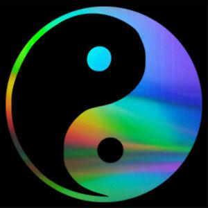 2x Yin And Yang Symbol Sticker Car Window Wall Bumper Laptop Room Vinyl Decal