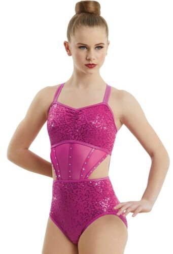NEW Dance Jazz Theatre Baton Sequin Leotard Competition Costume Child /& Adult
