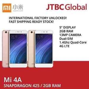 New Xiaomi Redmi 4A 4G LTE DUAL-SIM 5 inch 2GB 16GB 13MP Factory Unlocked Phone