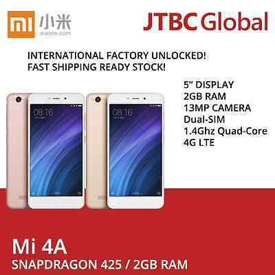 New Xiaomi Redmi 4A 4G LTE DUAL-SIM 5 inch 2GB 16GB 13MP Factory Unlocked Phone
