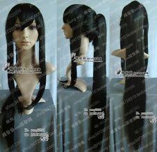 New lady's Anime D.Gray-man Cosplay Kanda Yuu Long black Wig+ hairnet H247