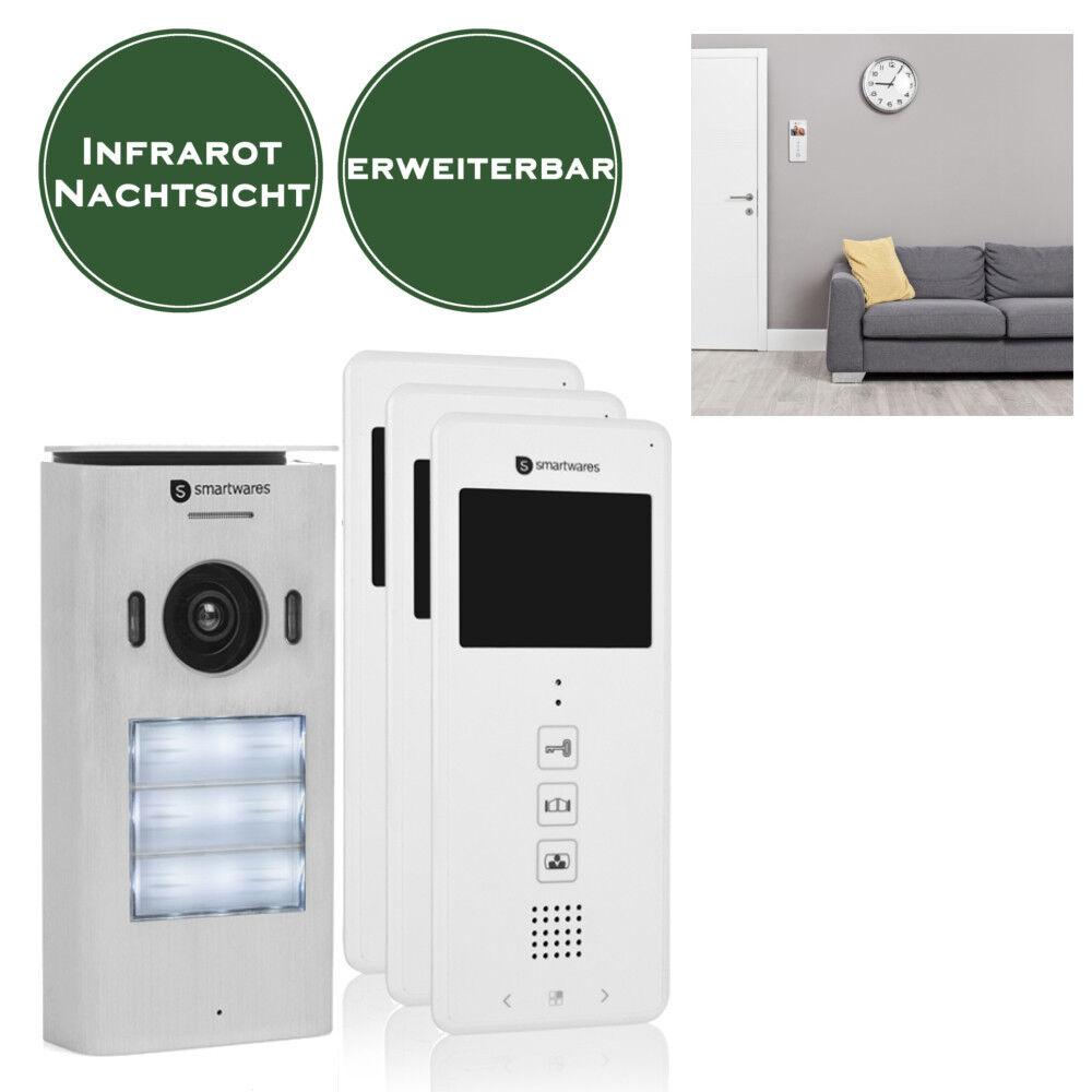 Video Türsprechanlage Wechselsprechanlage 3 Familienhaus Klingelanlage Haustür