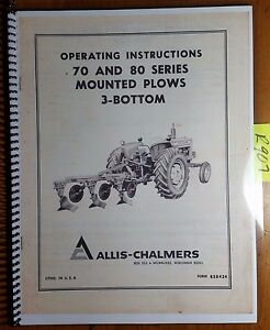 Bottom plow instructions