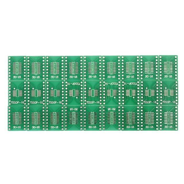 27 pcs SO / SSOP / TSSOP / DIP 16 on DIP16 adapter PCB converter double pages DM