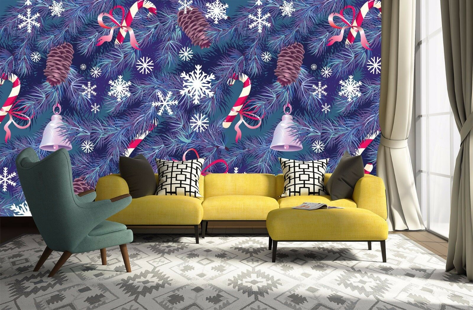 3D Christmas 53 Wallpaper Murals Wall Print Wallpaper Mural AJ WALL AU Kyra