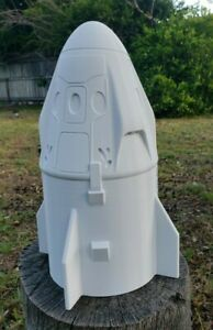 "3D Printed 1//160 SpaceX Dragon Capsule 2/"" White PLA Plastic"