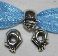 Lot 10 Silver Football Rugby Sports Helmet Slide Charms Charm Bracelet Jewelry
