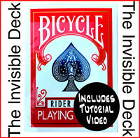 Magic Trick The Invisible Deck Dynamo, Red, David Blaine, Bicycle Cards, New