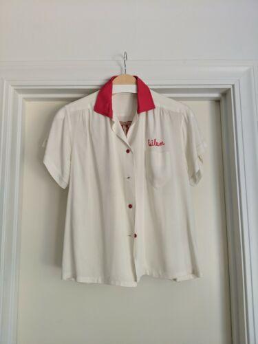 Vintage chain stitch bowling shirt