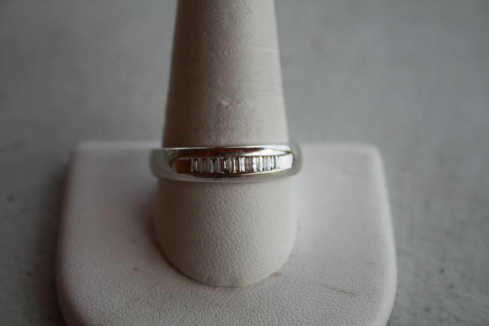 Platinum Diamond Ring. Brand New  1 2 Carats of Top Quality Baguettes Never Worn