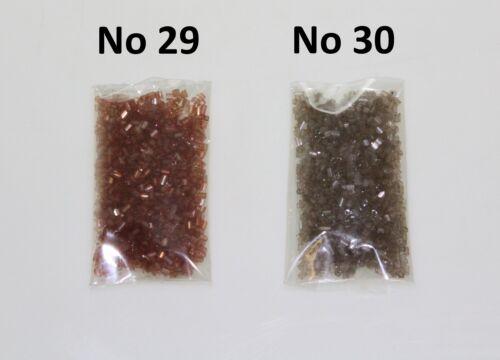 Marrón Castaño Chocolate Bugle cuentas 2mm Bugle cuentas costura Artesanía Joyería