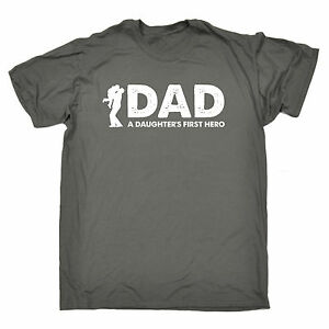 Image Is Loading Dad A Daughters First Hero MENS T SHIRT