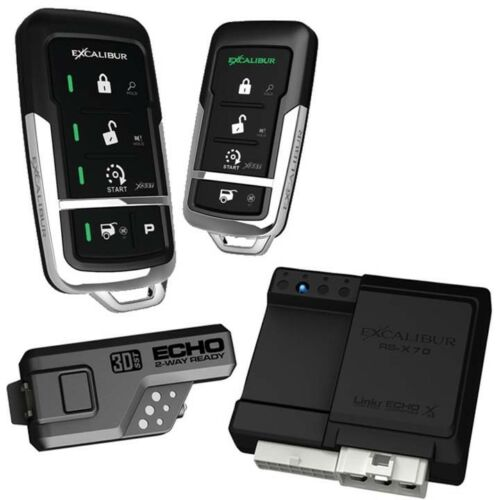 RS4753D Excalibur 900MHz LED 2-Way  Keyless Entry /& Remote Start Linkr Ready